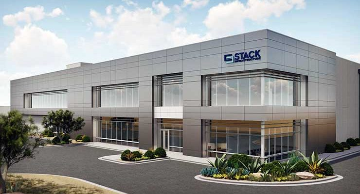 An illustration of the STACK Infrastructure data center planned for Avondale, Ariz. (Image: STACK)