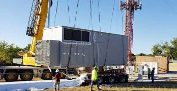 A Vapor IO edge computing module is installed at a tower site in the Dallas market. (Photo: Vapor IO)