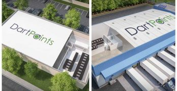 Several concept drawings of DartPoint data centers. (Images: DartPoints)