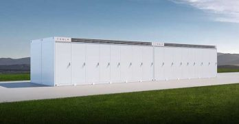 An illustration of the Tesla Megapack, which provides 3 megawatts of energy storage capacity. (Image: Tesla)