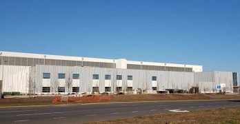 New construction continues in Ashburn, such as this CloudHQ data center project. (Photo: Rich Miller)