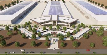 An illustration of the Novva data center campus, which is under construction in West Jordan, Utah. (Image: Novva)