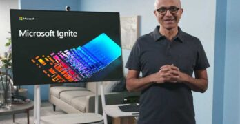 Microsoft CEO Satya Nadella speaks at the Ignite 2020 virtual event. (Image: Microsoft)