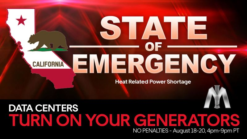 A graphic shared by Infrastructure Masons on LinkedIn during a recent California power emergency.