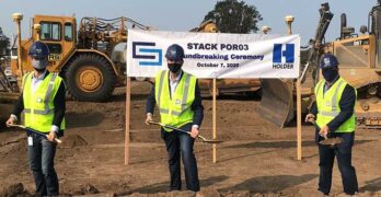 The groundbreaking at STACK Infrastructure's newest campus in Hillsboro, Oregon. (Photo: STACK Infrastructure)