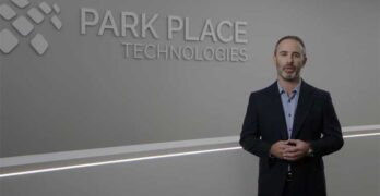 Park Place Technologies CEO Chris Adams announces his company's acquisition of Curvature. (Image: Park Place)