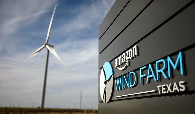 Amazon Buys Solar, Wind Power to Speed Shift to a Renewable AWS Cloud
