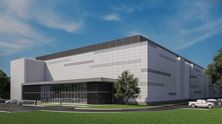 An illustration of a new data center being built in Ashburn, Virginia by American Real Estate Partners. (Image: AREP)