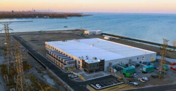 Digital Crossroad is a 105,000 square foot data center on the shores of Lake Michigan in Hammond, Indiana. (Image: Digital Crossroad).