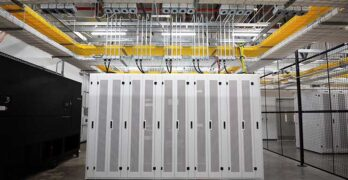 The network meet-me room inside the NTT Global Data Centers Americas facility in Hillsboro, Oregon. (Photo: NTT)