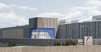 An illustration of the future Aligned data center in Northlake, Ill. (Image: Aligned)