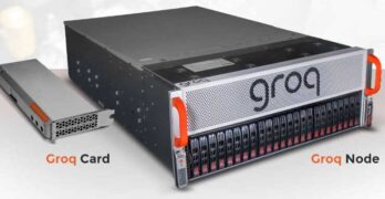 Data center hardware from Groq, which just raised $300 million in venture financing. (Image: Groq)