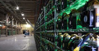 Some of the more than 4,000 cryptocurrency ASIC miners in Riot Blockchain mining facility. (Image: PRNewsfoto/Riot Blockchain, Inc.)