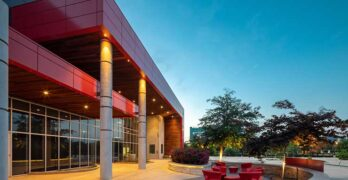 The exterior of the Data Foundry Houston 2 data center. Data Foundry is being acquired by Switch. (Image: Data Foundry)