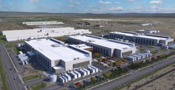 An illustration of the Facebook campus in Prineville, Oregon, including two new data centers (at lower left) that will feature two stories of server rooms. (Image: Facebook)