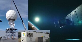 Microsoft's Azure space strategy includes satellites, ground stations at its data centers, and modular data centers with satellite broadband connections. (Images: Microsoft)