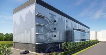 Rendering of one of the future multi-story Equinix xScale data centers planned for Paris. (Image: Equinix)