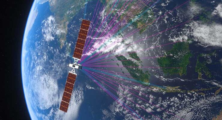 Satellite operator SES will use its O3b mPOWER network of satellites (pictured here) to provide Direct Connect services to the AWS cloud. (Image: SES)