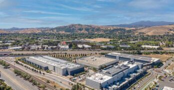 An aerial view of the Equinix data campus in South San Jose in Silicon Valley. (Image: Equinix)