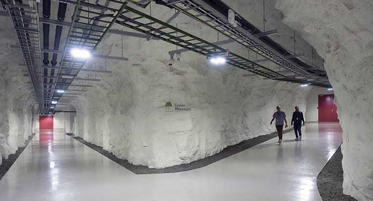 Inside the Green Mountain data center in Stavenger, Norway. (Image: Green Mountain)