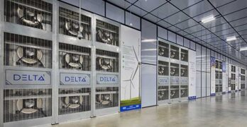 A cooling wall of Delta-3 units inside an Aligned data center. (Photo: Aligned)