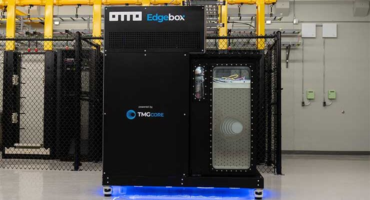 The OTTO system from TMGcore is among the new expressions of liquid cooling to manage higher-density workloads. (Image: TMGcore.)