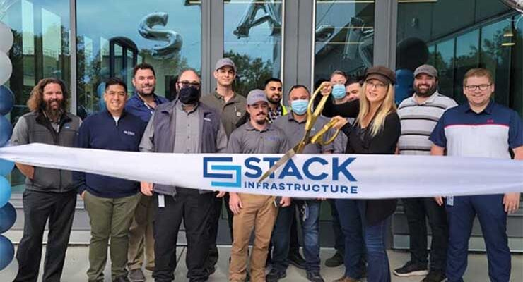 The team at STACK Infrastructure celebrates the opening of its SVY02 data center in San Jose, California. (Photo: STACK)